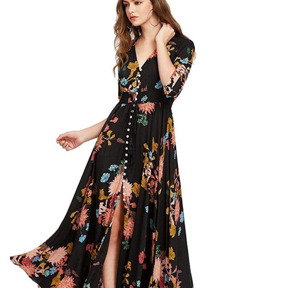 f962616711c32 Bright floral boho dress
